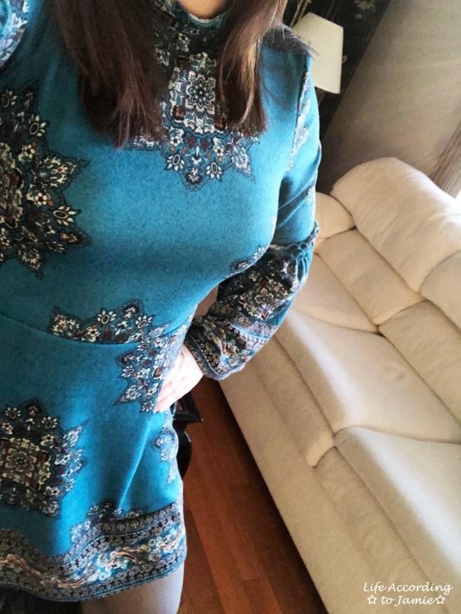 Bell Sleeve Fleece Dress 2