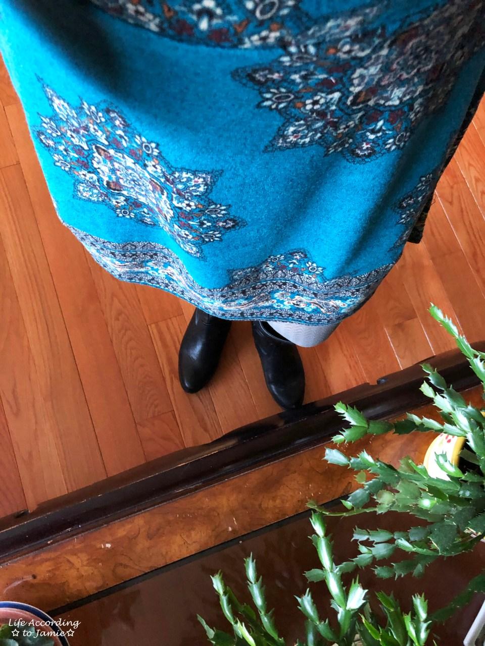 Bell Sleeve Fleece Dress 5