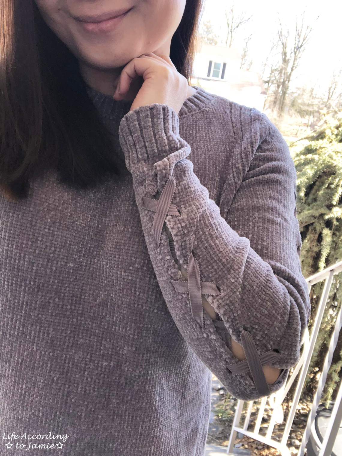Chenille Lace-Up Sleeves