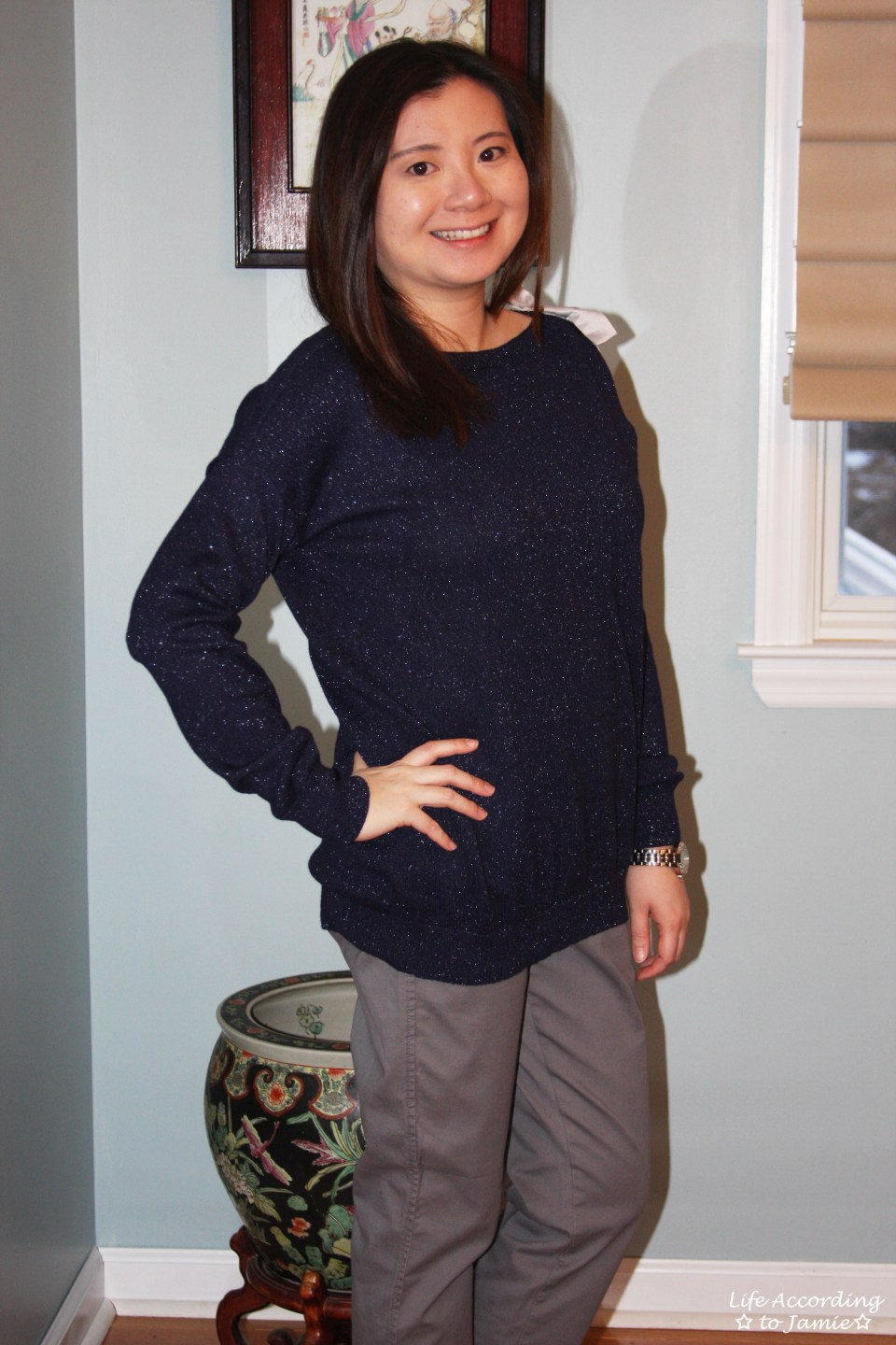 Evening Blue Bow Sweater 10