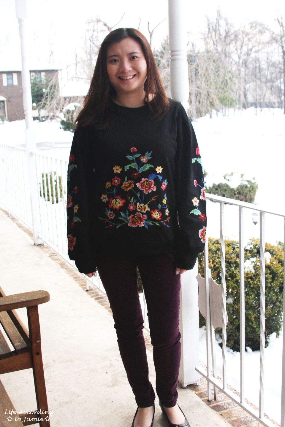 Floral Embroidered Sweatshirt 12
