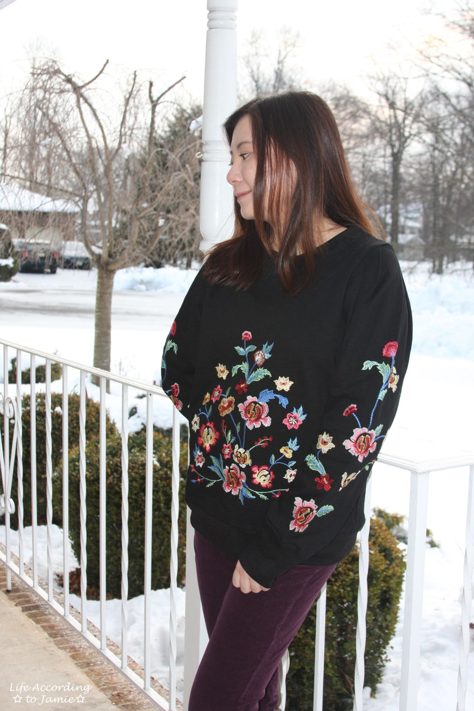 Floral Embroidered Sweatshirt 6