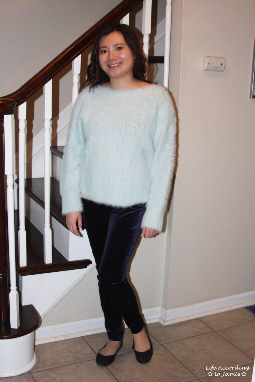 Ice Blue Fuzzy Sweater 12