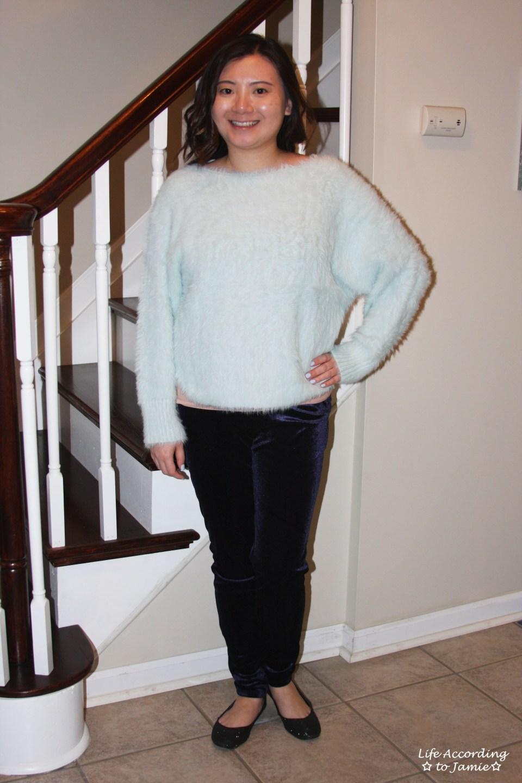 Ice Blue Fuzzy Sweater 13