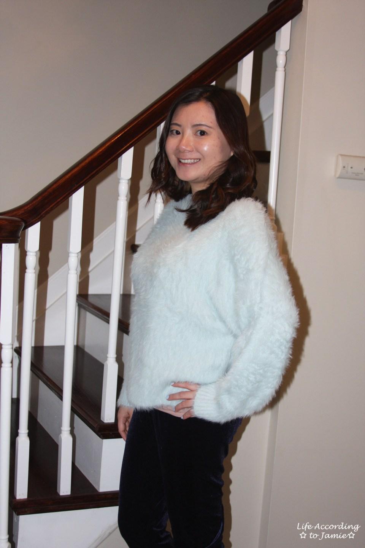 Ice Blue Fuzzy Sweater 8