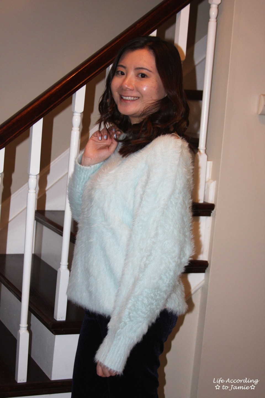 Ice Blue Fuzzy Sweater 9