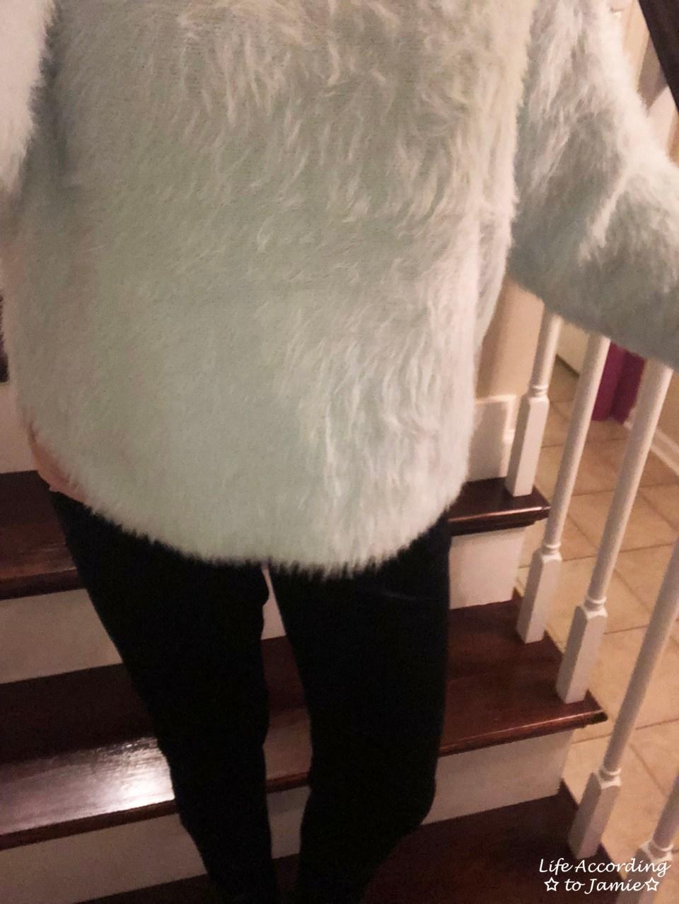 Ice Blue Fuzzy Sweater