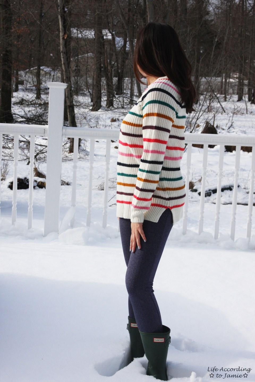 Multicolor Striped Lace-Up 6