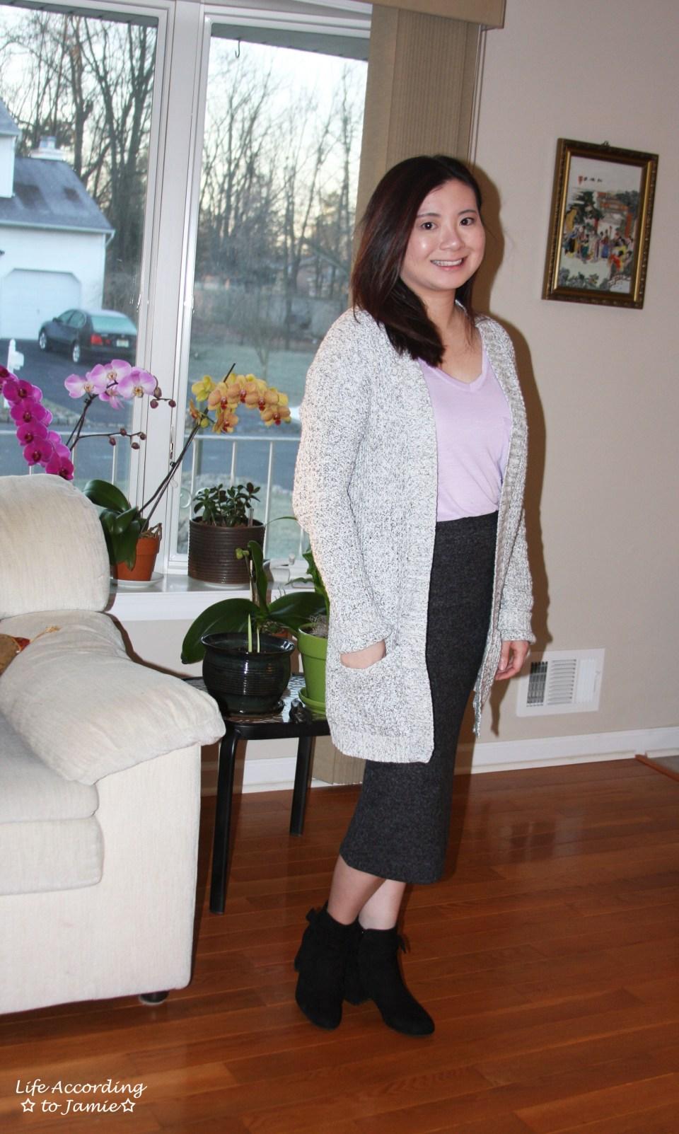 Plush Jersey Pencil Skirt 4