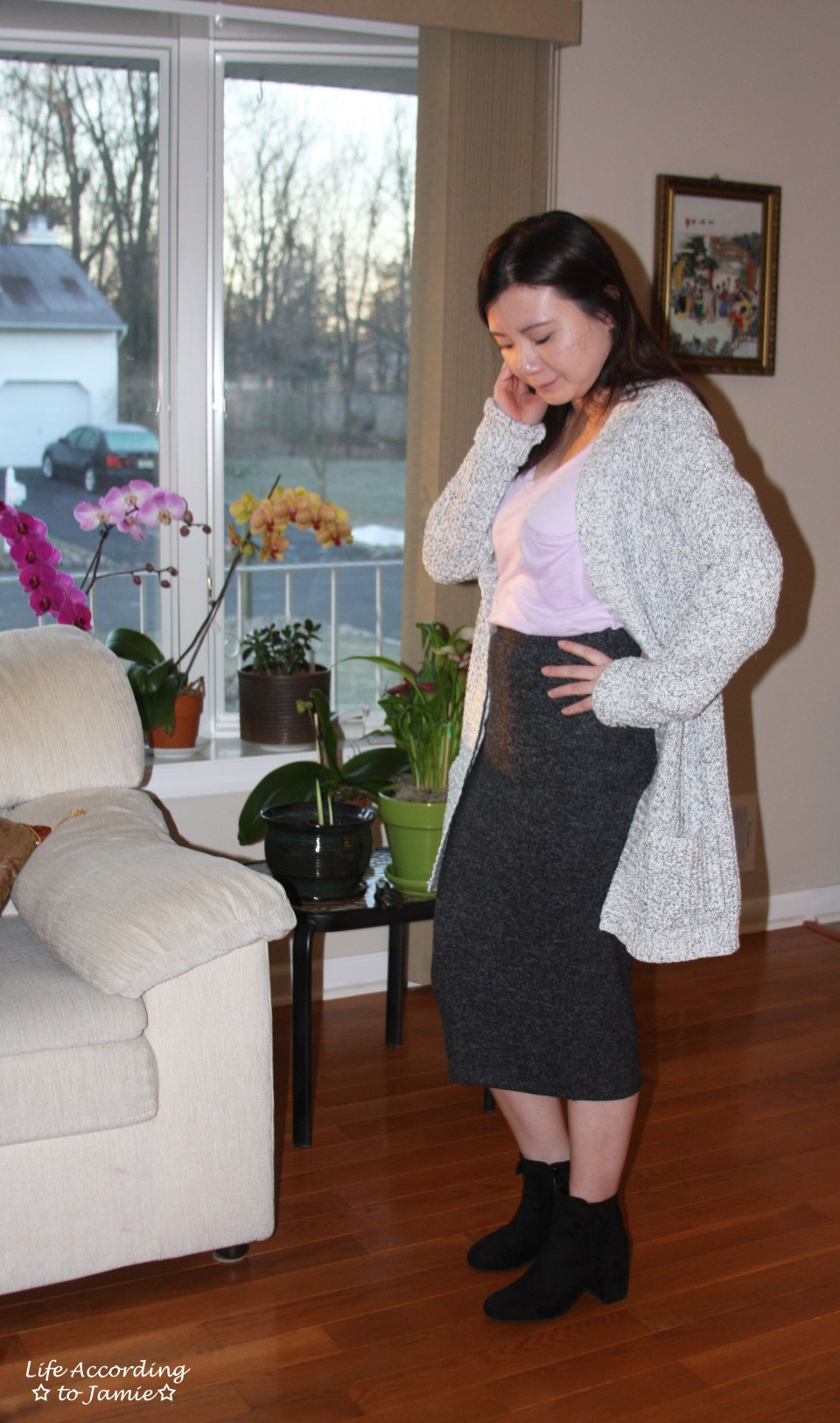 Plush Jersey Pencil Skirt 9