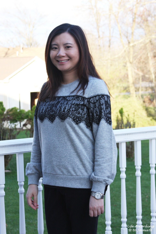 Black Lace Sweatshirt 6