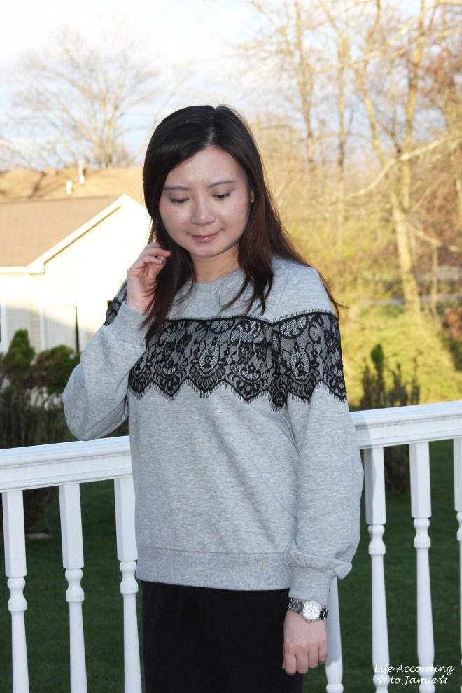 Black Lace Sweatshirt 7