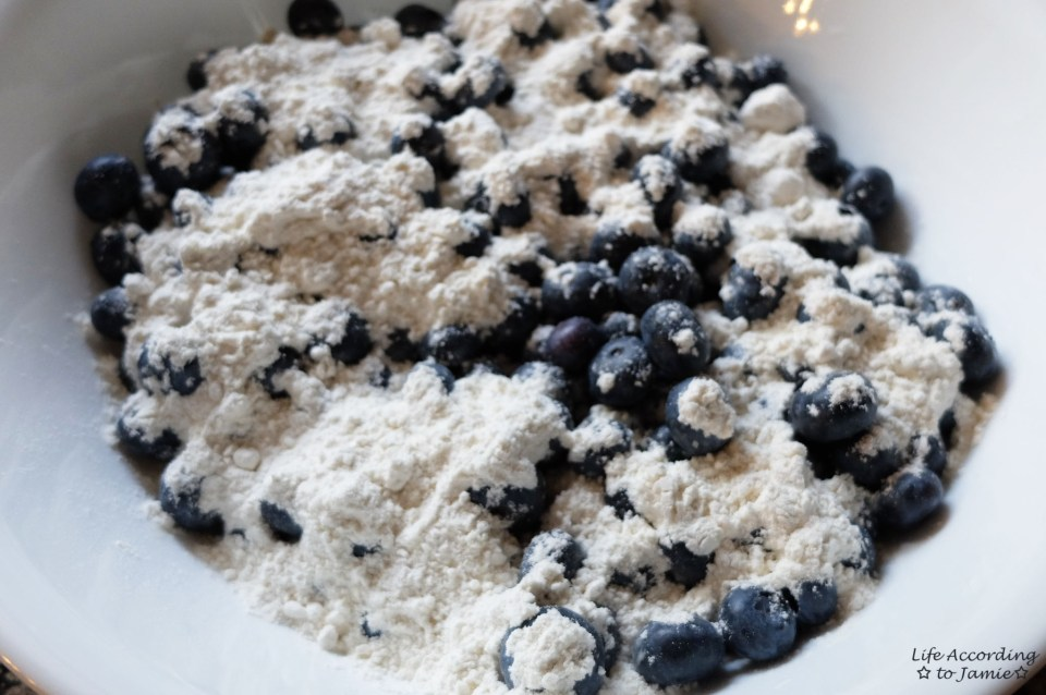 Blueberries + Flour
