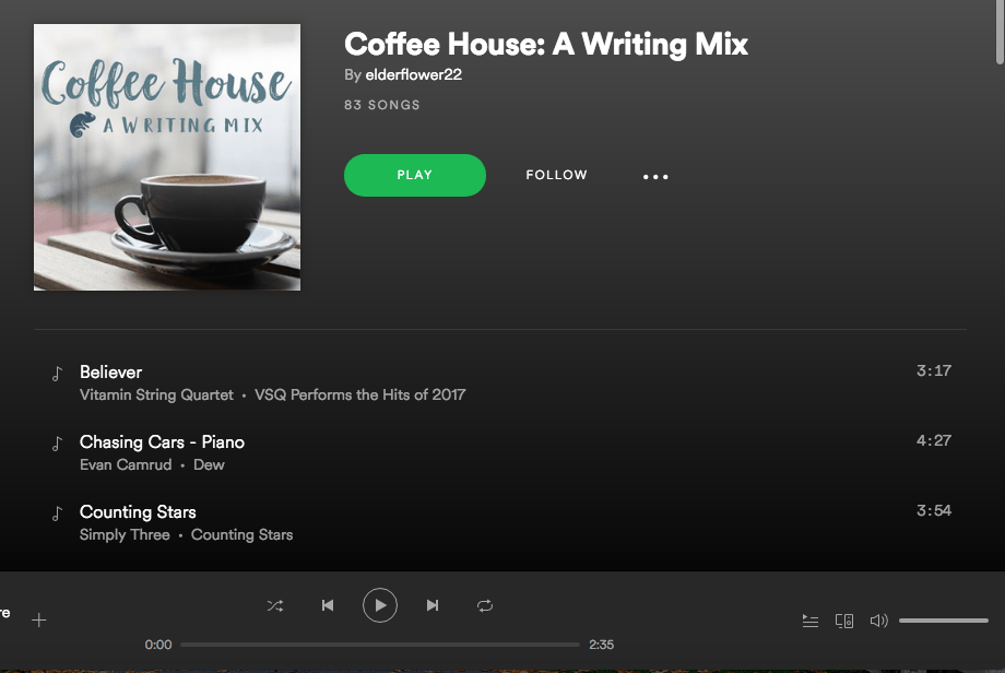 Coffee House Writing Mix Playlist