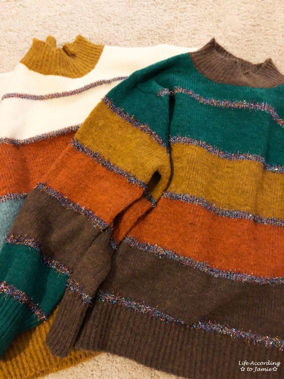 Color Block Tinsel Stripe 16