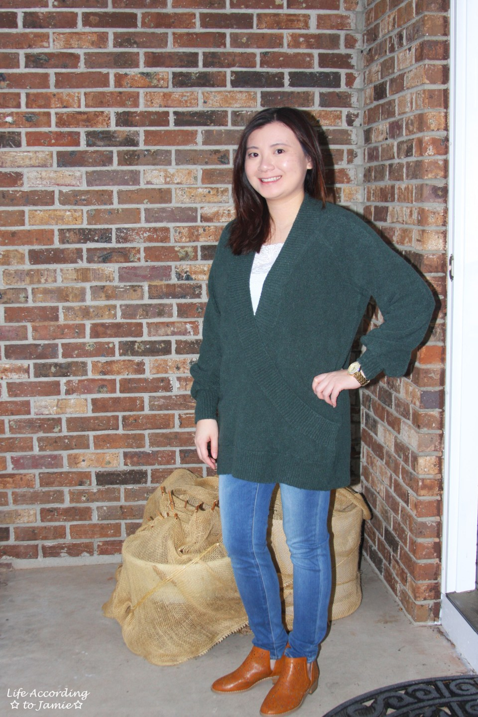 Green Wrap Front Tunic 9