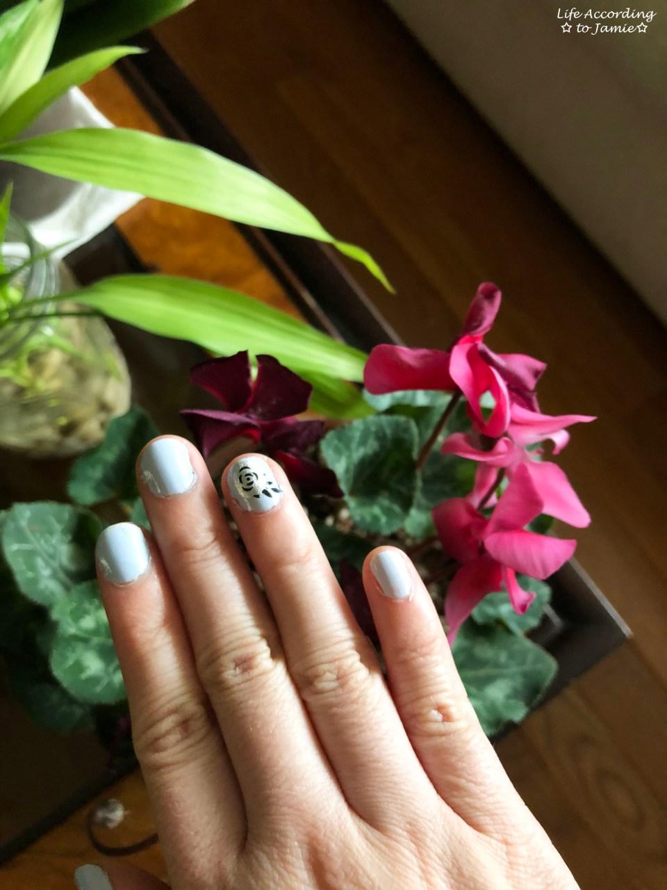 Nails - Silver Rose