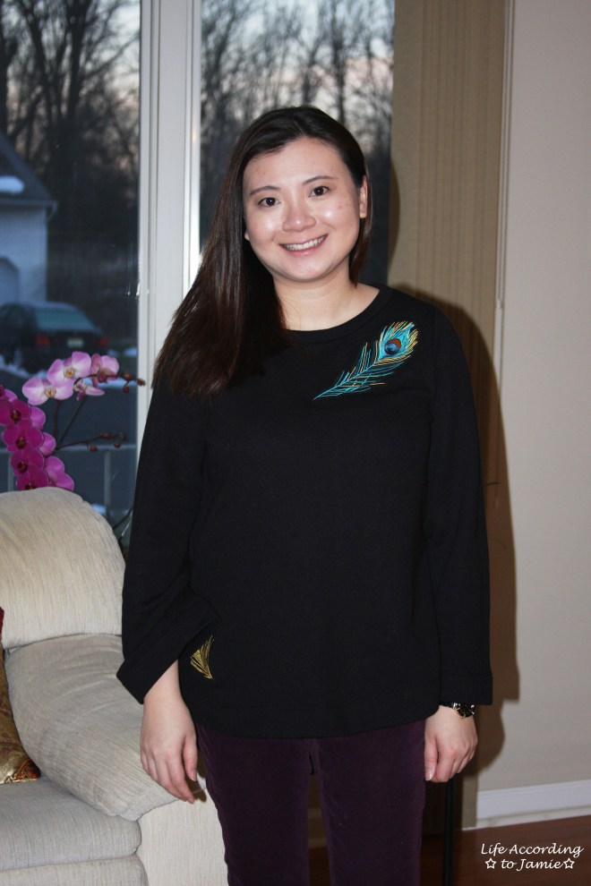 Peacock Feather Bell Sleeve 3