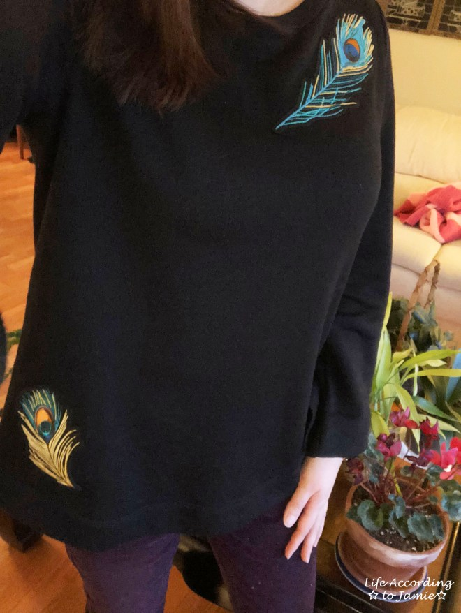 Peacock Feather Bell Sleeve