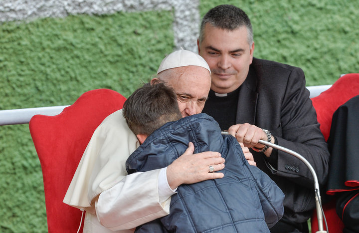 Pope Francis + Boy - Athetist Father