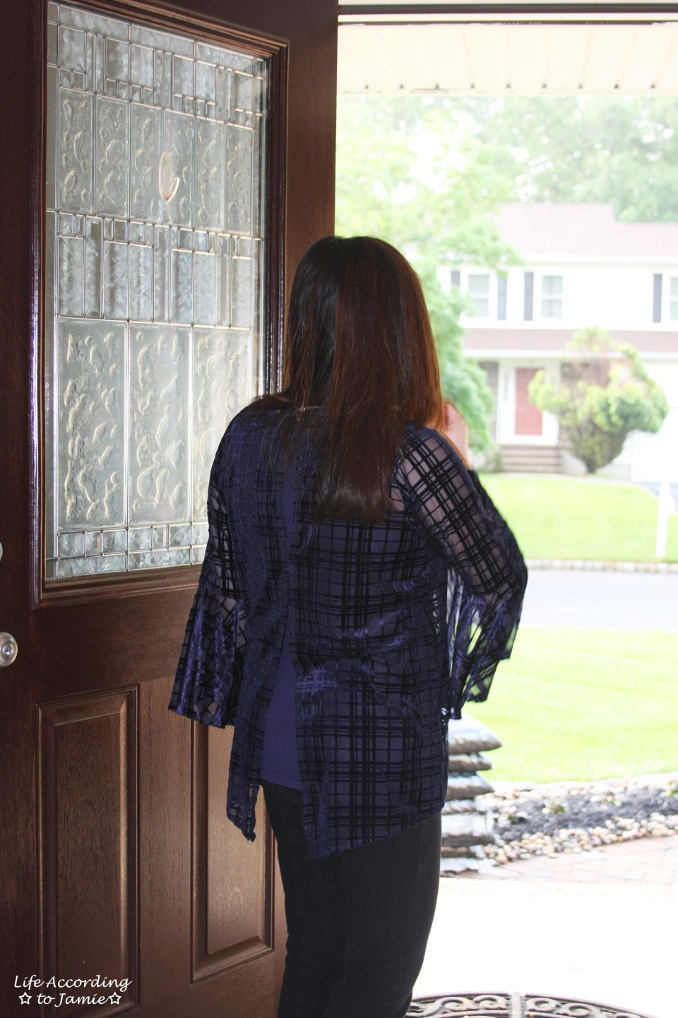 Blue Velvet Plaid Blouse 8