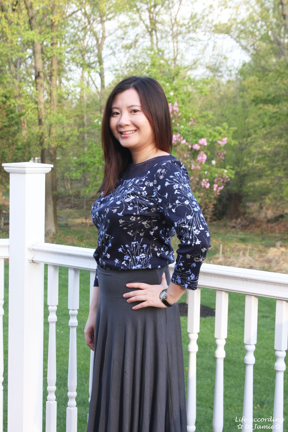 Crochet Topped Floral Top 9
