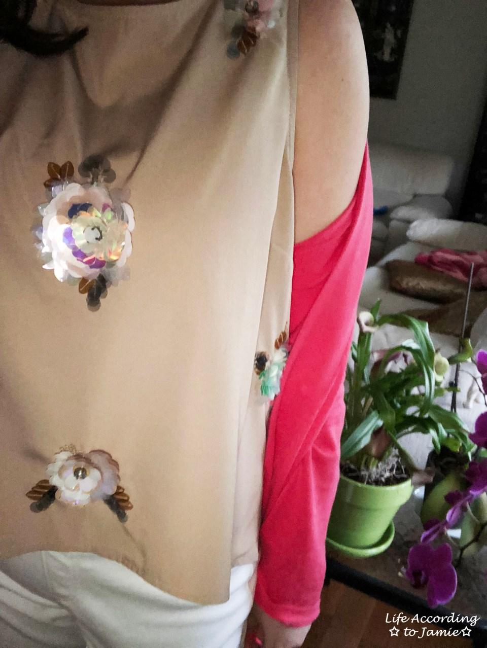 Floral Paillette Embellished Top 1