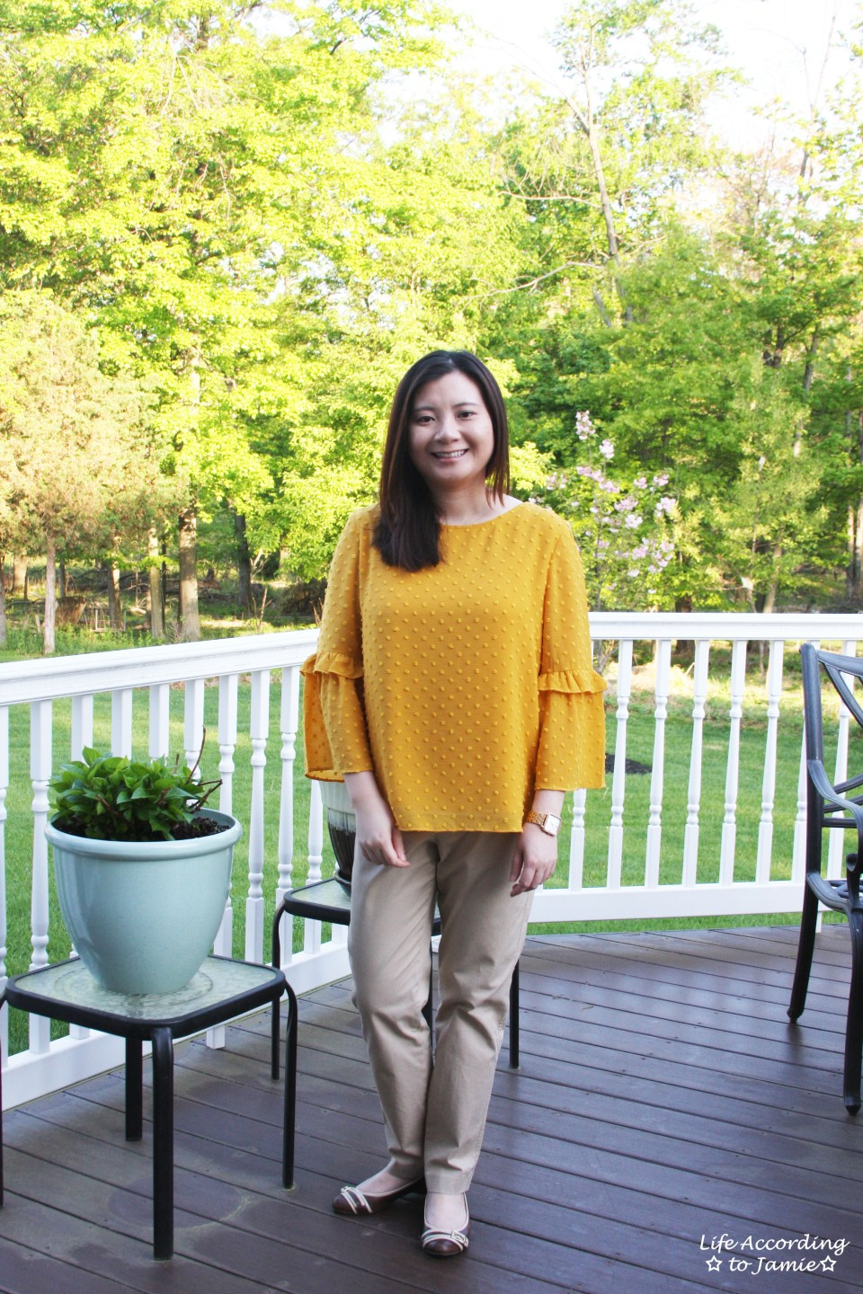 French Knot Mustard Blouse 10
