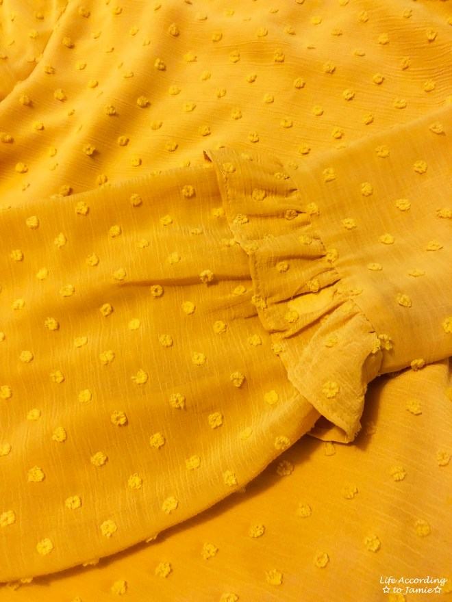 French Knot Mustard Blouse 2
