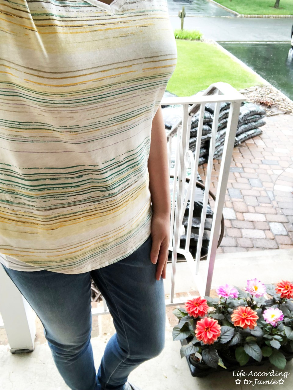 Green & Yellow Striped Tee 2