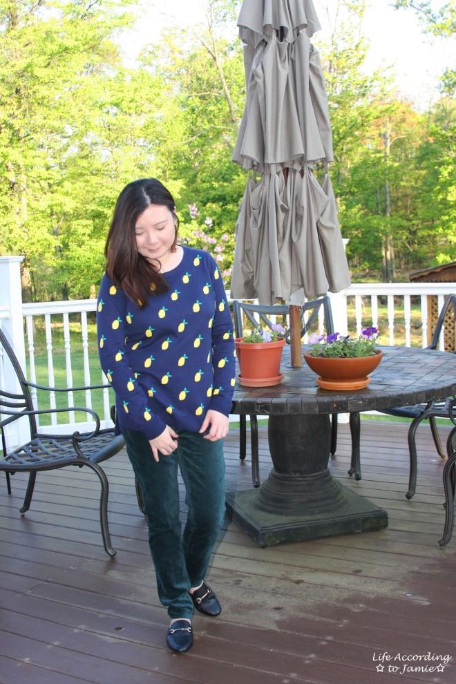 Lemon Print Sweater 3