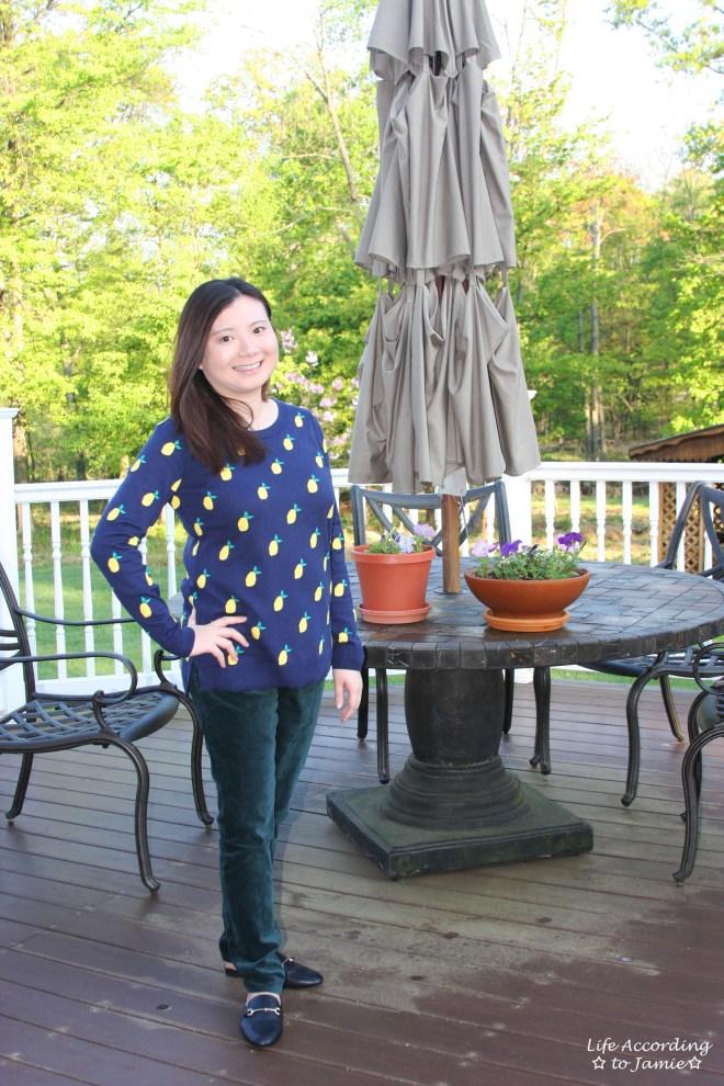 Lemon Print Sweater 4