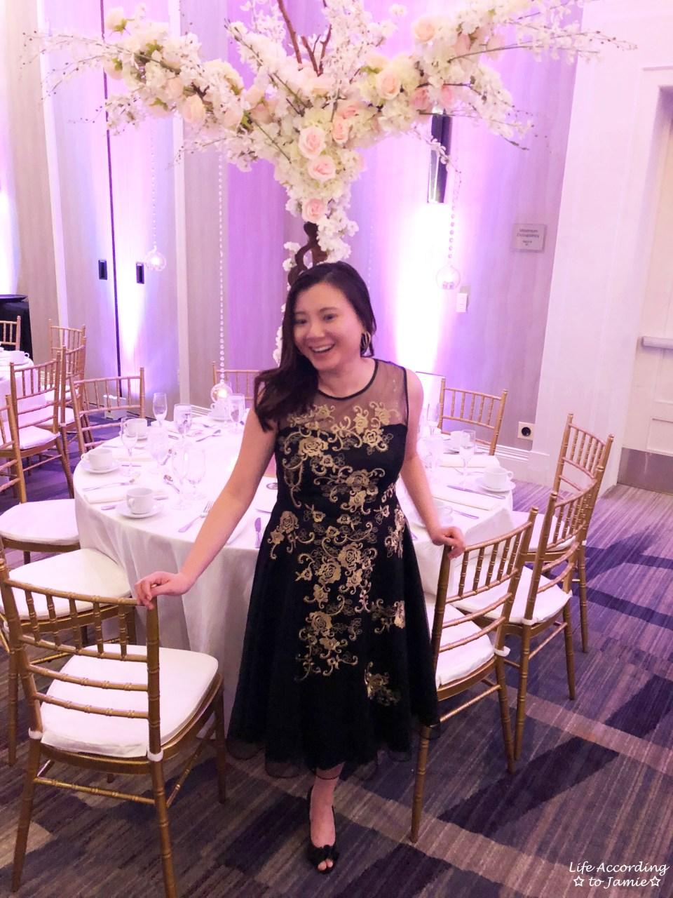 Metallic Flower Illusion Dress 1