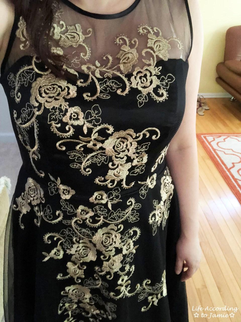 Metallic Flower Illusion Dress 13