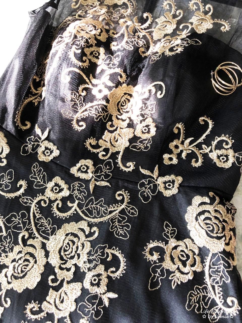 Metallic Flower Illusion Dress 14