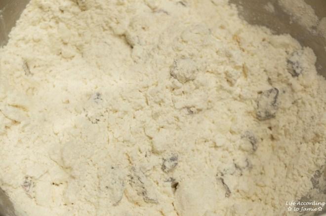 Orange Cranberry Scone dough