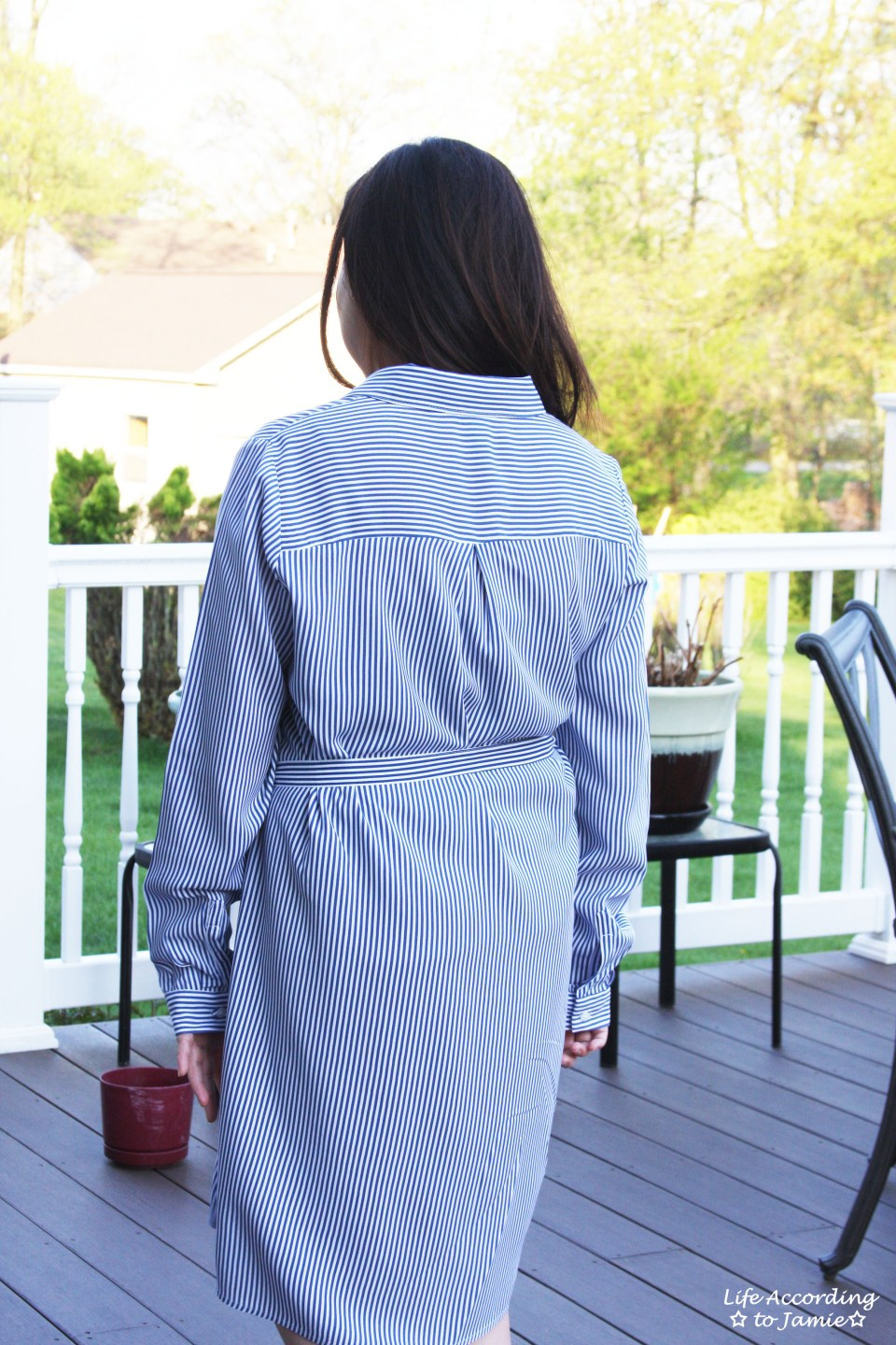 Pinstripe Shirt Dress 9