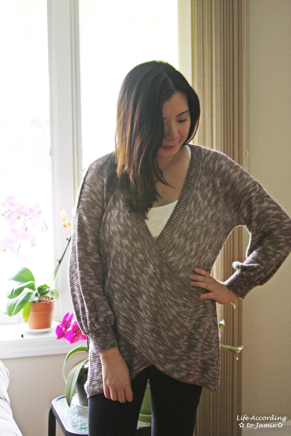 Wrap Front Sweater 10
