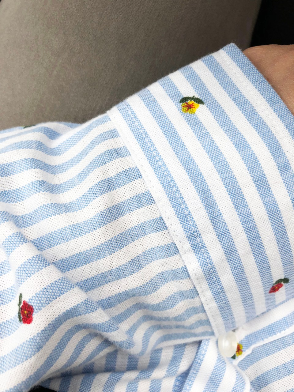 Floral Pinstripe Button Down 13