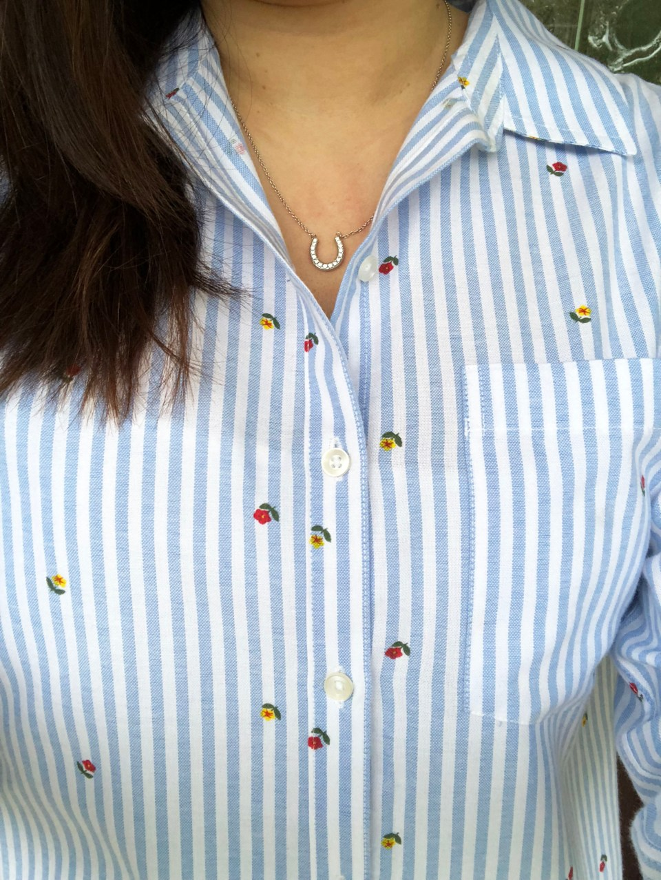 Floral Pinstripe Button Down 9