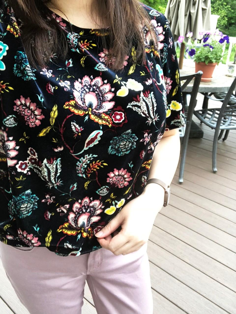 Floral Velvet Tee 12
