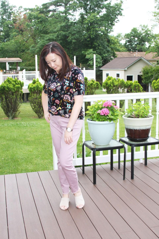 Floral Velvet Tee 2