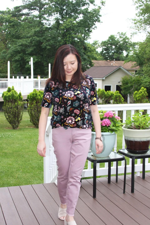 Floral Velvet Tee 6