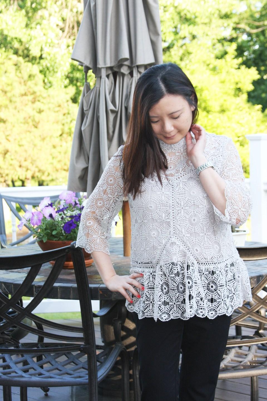 Grey Crochet Top 10