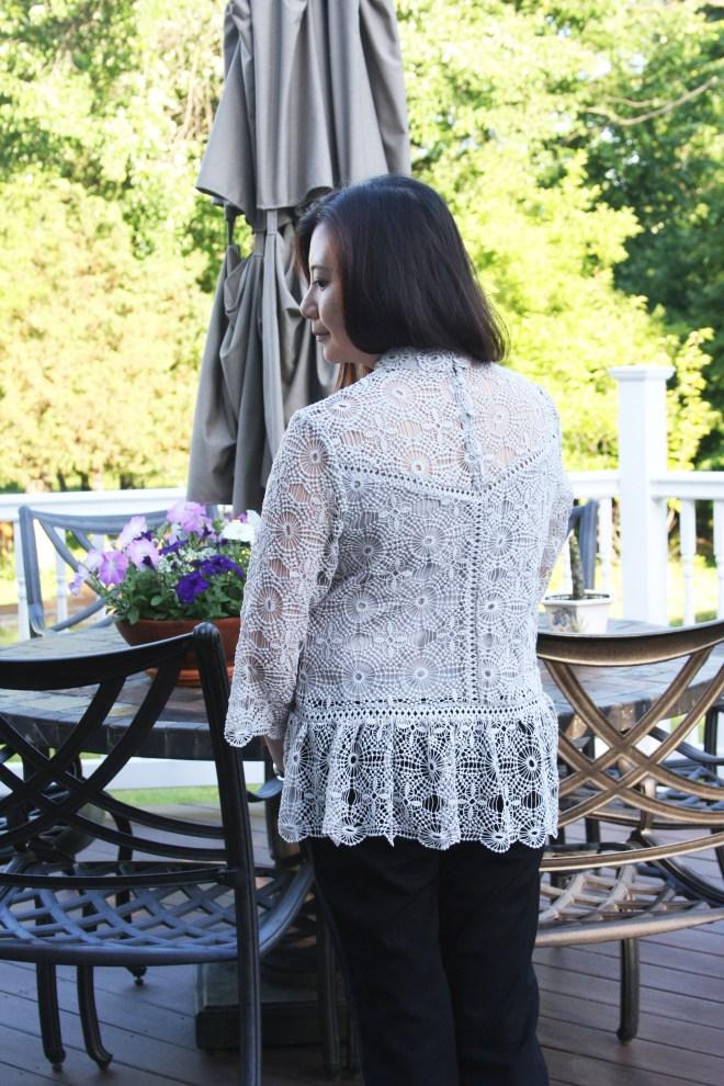 Grey Crochet Top 4