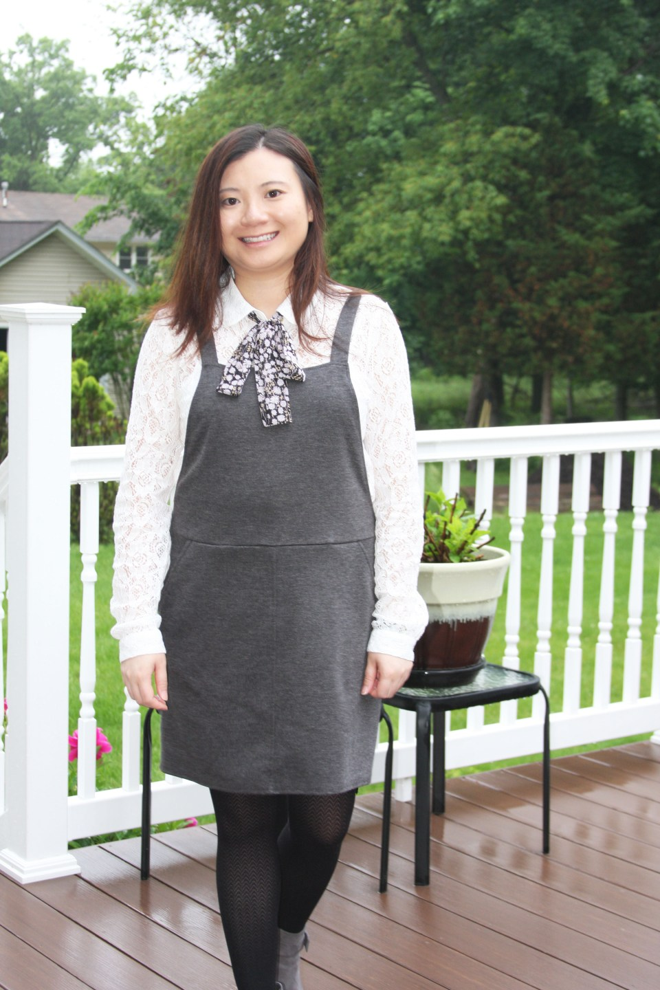 Lace Top + Pinafore 6