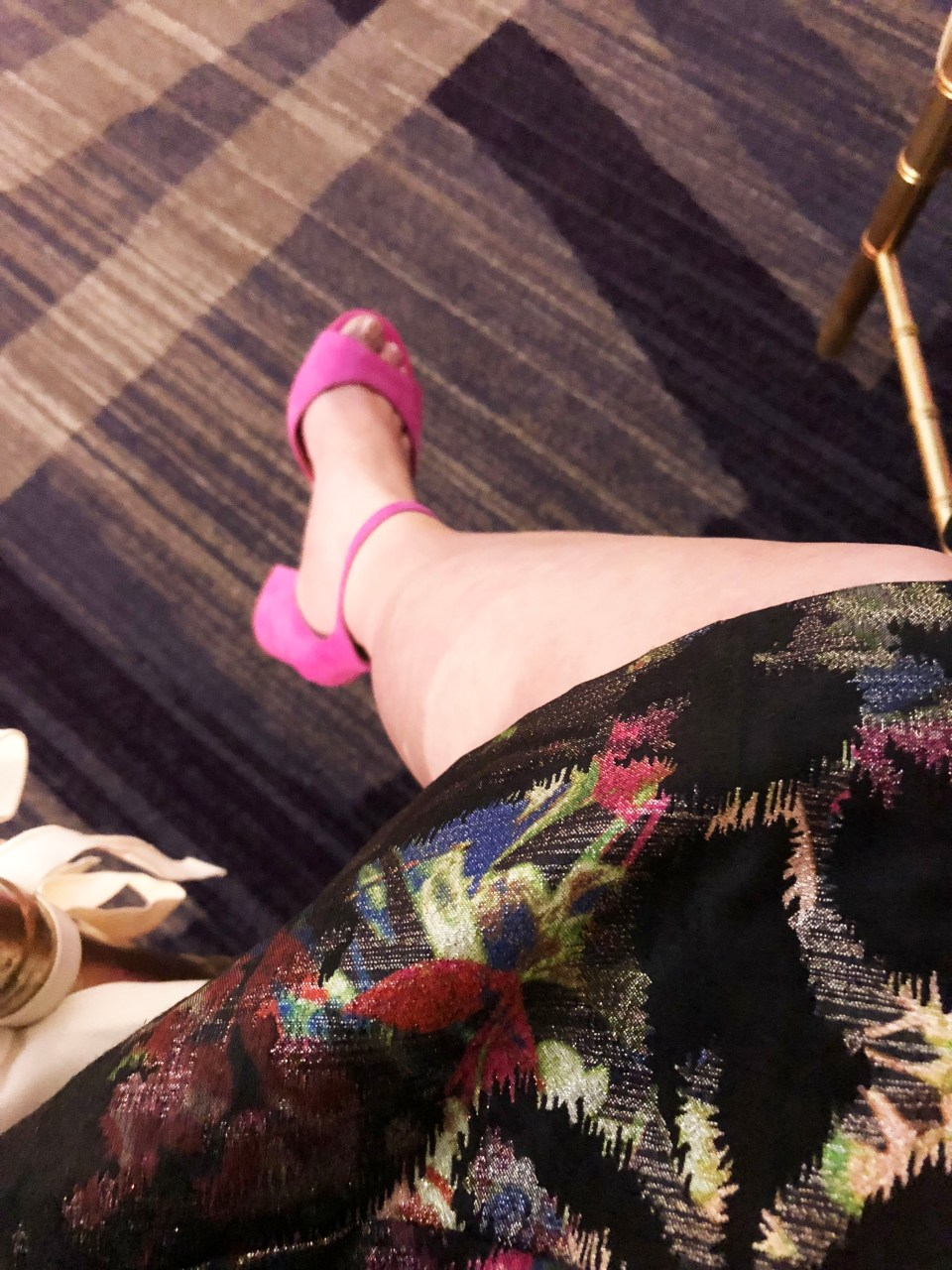 Multicolor Skirt Keyhole Dress 12