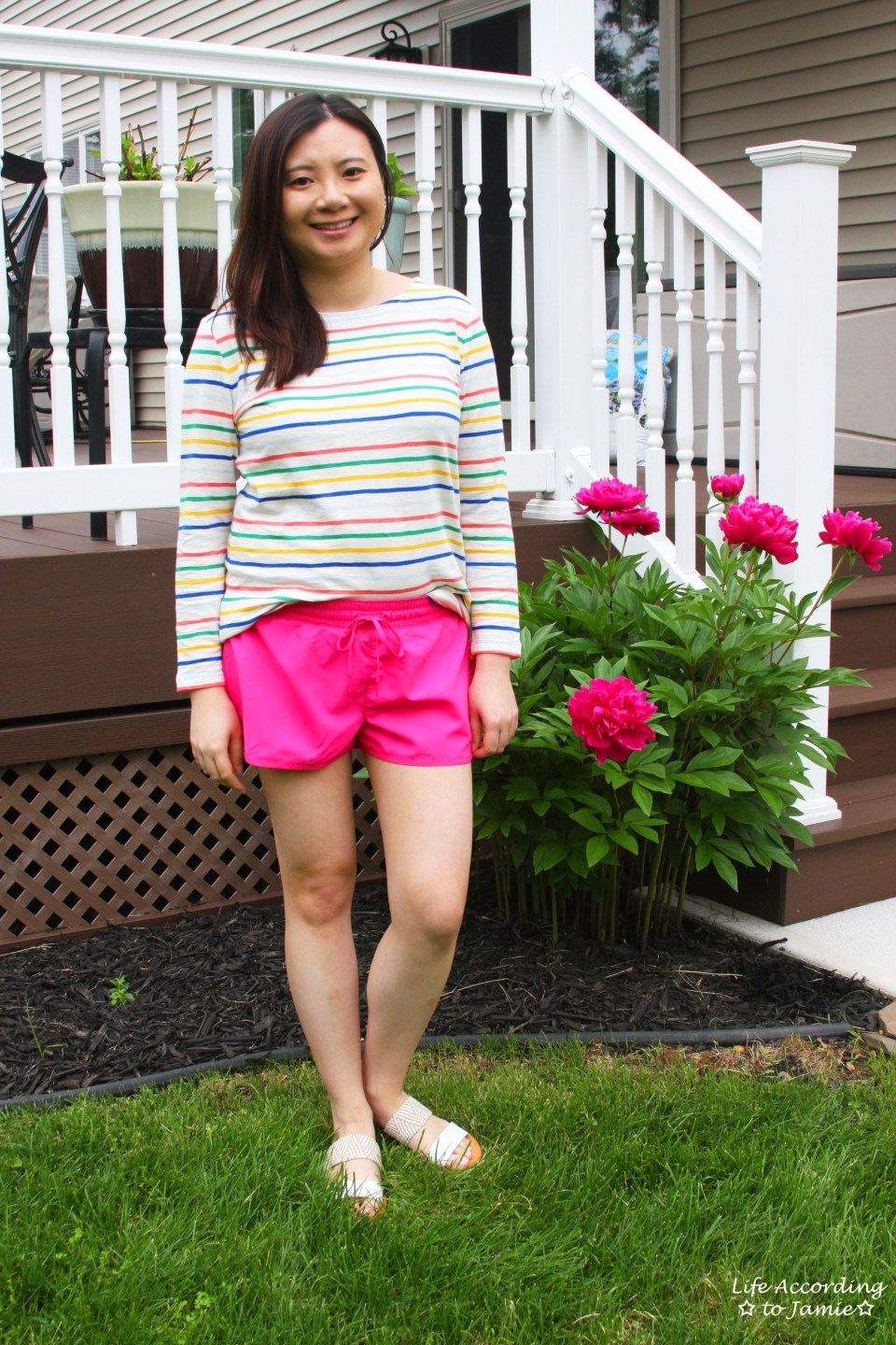 Multicolored Striped Top 11