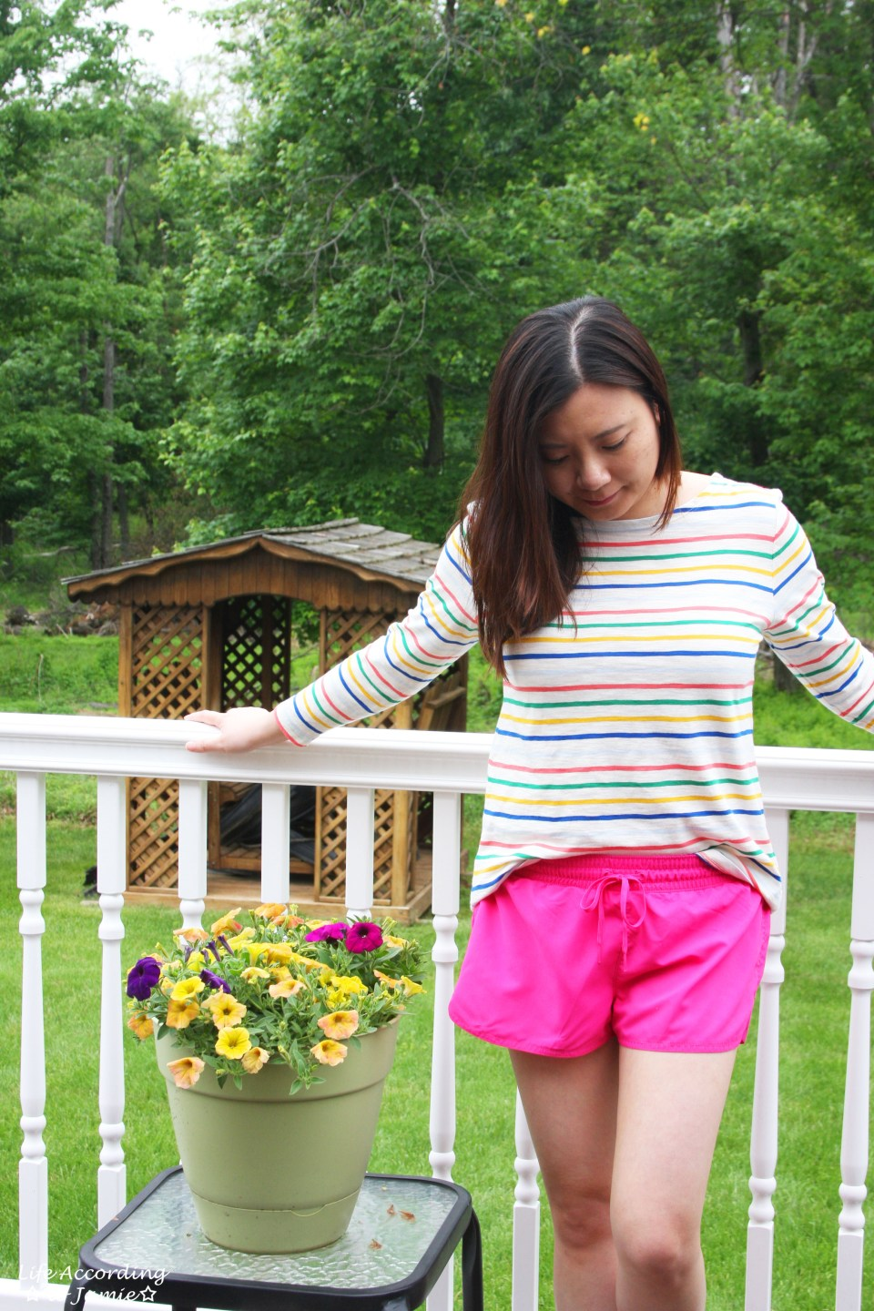Multicolored Striped Top 6