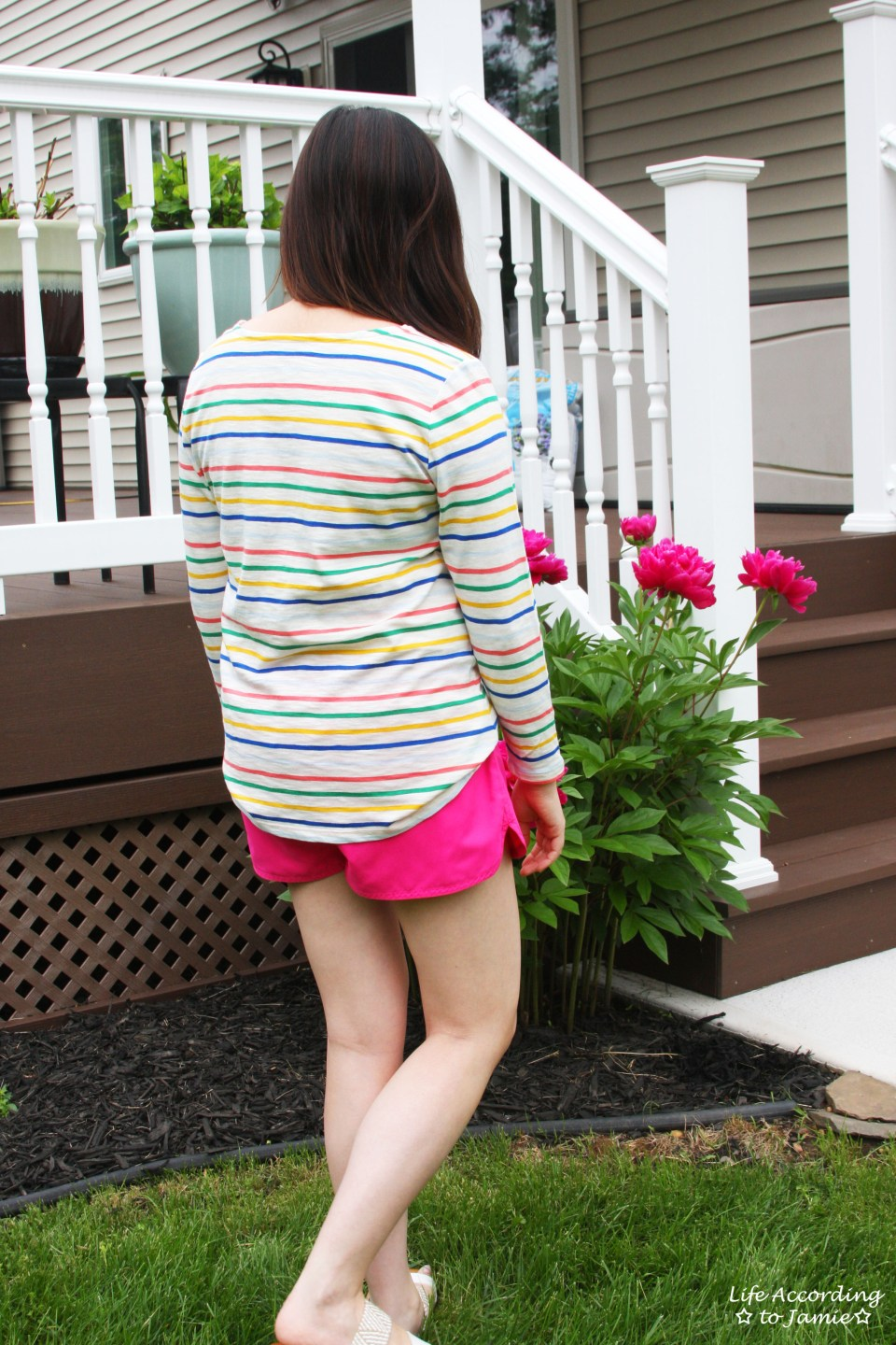 Multicolored Striped Top 9